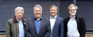 Von links nach rechts: Ernst Dieter Rossmann, Ulrich Krause, Kai Vogel und Jannik Thiel