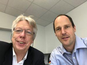 Tauschten sich über das THW in Elmshorn aus: Ernst Dieter Rossmann und Edgar Konetzny.